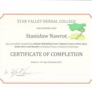 certyfikat dla Stanisława Nawrota