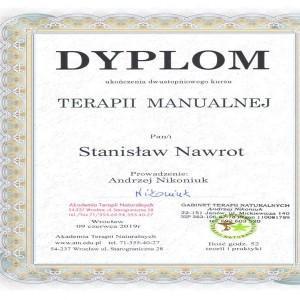 dyplom terapii manualnej Stanisław Nawrot
